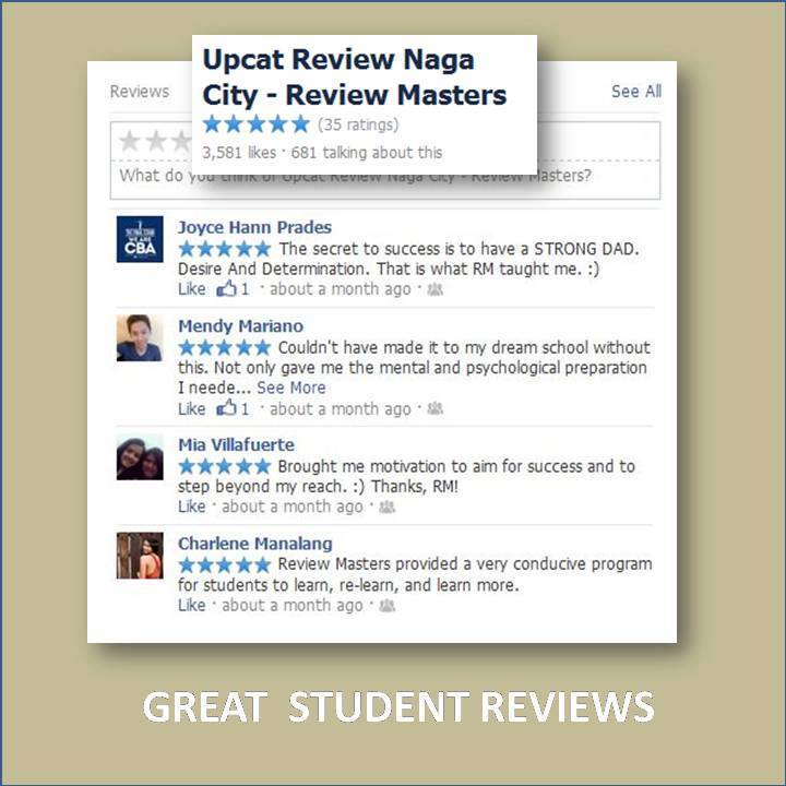 UPCAT Review Review Masters Testimonials